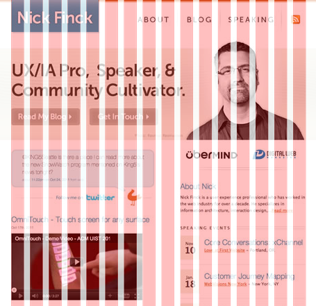 Пример 12 колоночной сетки на веб-дизайне